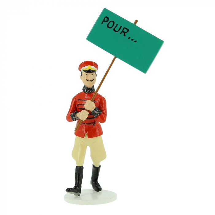 Figurine Tintin du Roi Muskar XII collection Carte de voeux 1972 (46525)