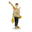 Tintin figurine the itinerant tea seller collection Carte de voeux 1972 (46526)