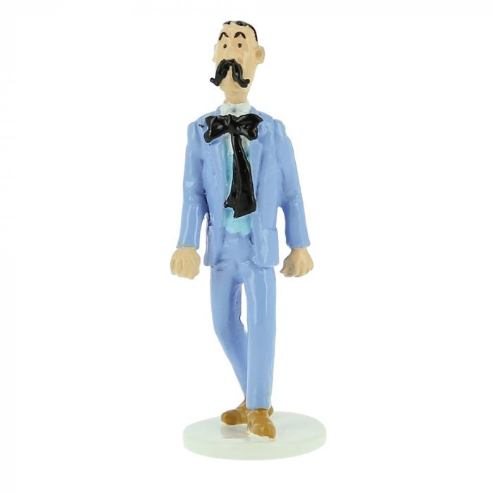 Figurine Tintin de l'agent secret Kaviarovitch Carte de voeux 1972 (46527)