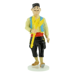 Figurine Tintin du voleur du sceptre d'Ottokar Carte de voeux 1972 (46528)