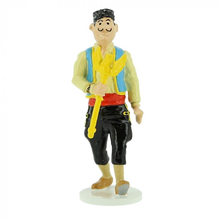 Tintin figurine of the Ottokar Scepter Thief Carte de voeux 1972 (46528)