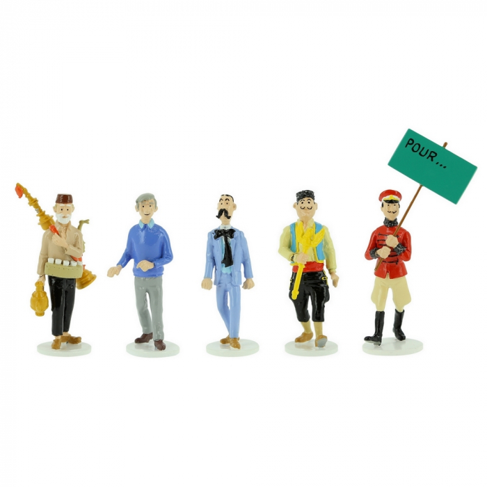 Figurines set Tintin Moulinsart Serie 10 collection Carte de voeux 1972 (2020)