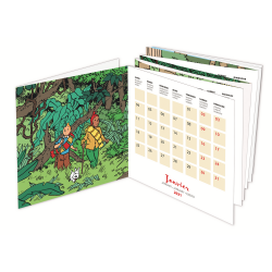 2021 Desktop Calendar Tintin Save the Planet 13,5x13,5cm (24444)
