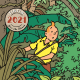Calendrier mural 2021 Tintin Save the Planet 30x30cm (24442)