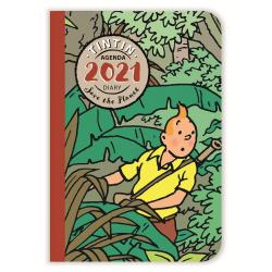 Agenda de poche 2021 Tintin Save the Planet 10x16cm (24446)