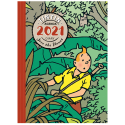 Agenda de bureau 2021 Tintin Save the Planet 16x21cm (24445)