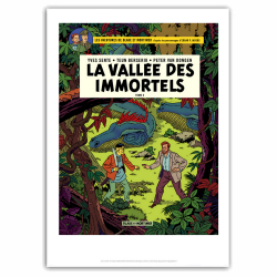 Poster offset Blake and Mortimer, La vallée des immortels T2 (40x60cm)