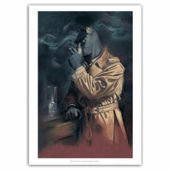 Poster affiche offset Blacksad, Portrait à la cigarette de John (40x60cm)