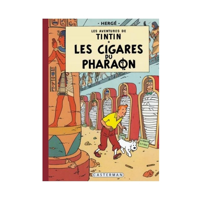 Álbum de Tintín: Les cigares du pharaon Edición fac-similé colores 1955