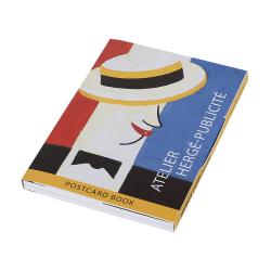 Set de 16 Cartes postales Tintin, Hergé et la publicité 31312 (10x15cm)