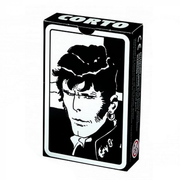 Juego de 52 cartas de baraja Corto Maltés (Negro)