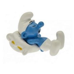 Figurine de collection Pixi Le Schtroumpf oreiller en pleine sieste 6432 (2012)