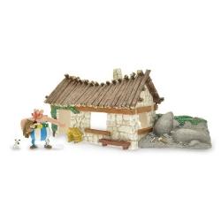 Coffret Plastoy de la maison du village d'Astérix avec figurine Obélix (2015)