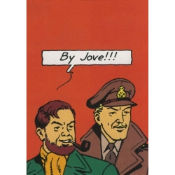 Postal Le Soir de Blake y Mortimer: By Jove !!! (10x15cm)