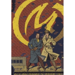 Postal Le Soir del álbum de Blake y Mortimer: La Marque Jaune (10x15cm)