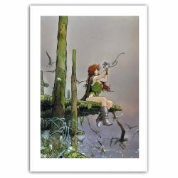 Póster cartel Loisel Búsqueda del Pájaro del Tiempo Pelisse y Fourreux (60x80cm)