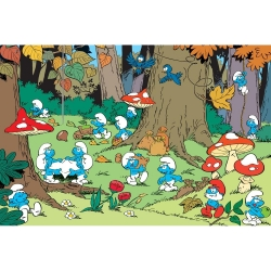 Visual printing Art To Print The Smurfs (Forest)
