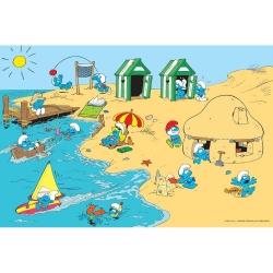 Impression visuel Art To Print Les Schtroumpfs (A la mer)