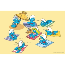 Visual printing Art To Print The Smurfs (At the beach)