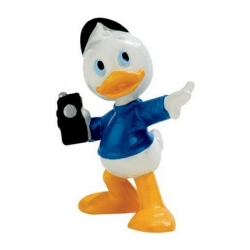 Collectible figurine Bully® Disney - Louie Duck with his Walkie Talkie (15558)