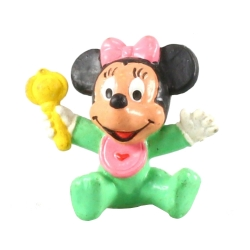 Collectible figurine Bully® Disney - Baby Minnie with her rattle (15558)