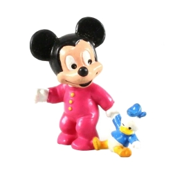 Collectible figurine Bully® Disney - Baby Mickey with his Donald soft toy (6612)