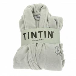 Peignoir unisexe pour adultes Moulinsart Tintin Gris Platinium (L-XL)