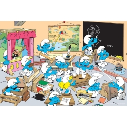 Visual printing Art To Print The Smurfs (At school)