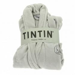 Peignoir unisexe pour adultes Moulinsart Tintin Gris Platinium (S-M)