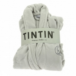 Unisex Adult Bathrobe Moulinsart Tintin Grey Platinium (S-M)