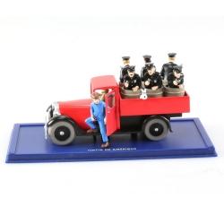 Coche de colección Tintín: el camión de la policía Nº41 29041 (2004)