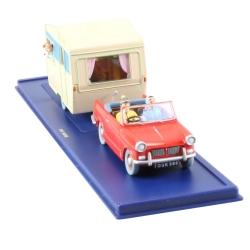 Collectible car Tintin: Triumph Herald 1200 and caravan Nº28/29 (2004)