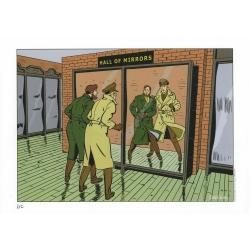 Ex-libris Offset Hommage à Blake et Mortimer de Barral-Veys (29,7x21cm)