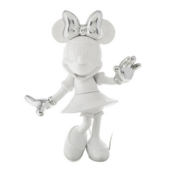 Figurine de collection Leblon-Delienne Disney Minnie Mouse Welcome Blanc-Argent