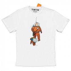 T-shirt 100% cotton Moulinsart Tintin and Snowy Astronaut on the Moon L (2020)