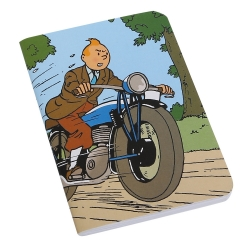 Notebook Tintin on a motorcycle 8,5x12,5cm (54374)