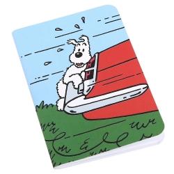Carnet de notes Tintin, Milou accroché au coffre 8,5x12,5cm (54378)