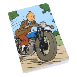 Notebook Tintin on a motorcycle 12,5x20cm (54373)