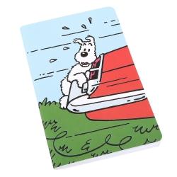 Carnet de notes Tintin, Milou accroché au coffre 12,5x20cm (54377)