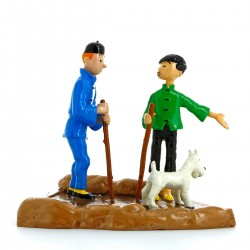 Collectible figurine Pixi / Moulinsart: Tintin and his guide Tchang 46218 (2006)