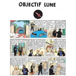 Album de Tintin: Objectif Lune Edition fac-similé couleurs 1953