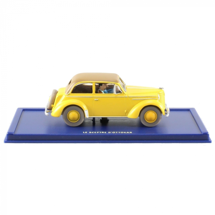 Voiture de collection Tintin: L'Opel Olympia cabriolet Nº19 29019 (2003)