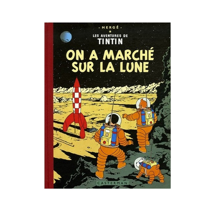 Tintin album: On a marché sur la Lune Edition fac-similé colours 1954
