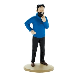 Collectible figurine Tintin, Haddock doubtful 13cm + Booklet Nº02 (2011)