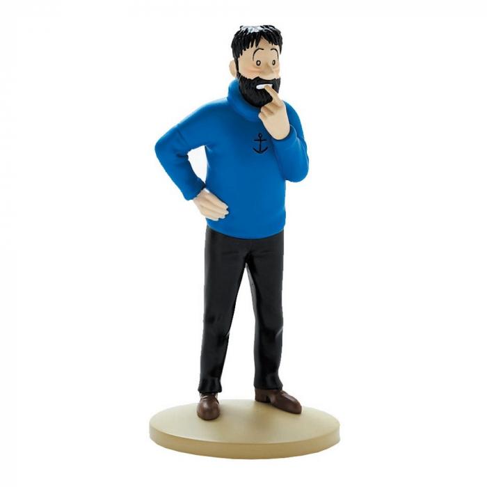 Collectible figurine Tintin, Haddock doubtful 13cm + Booklet Nº02 (2011)
