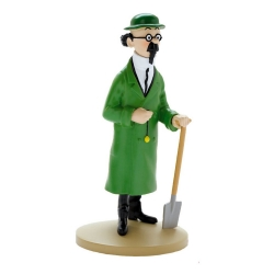 Figurine de collection Tintin, Tournesol avec bêche 13cm + Livret Nº03 (2011)