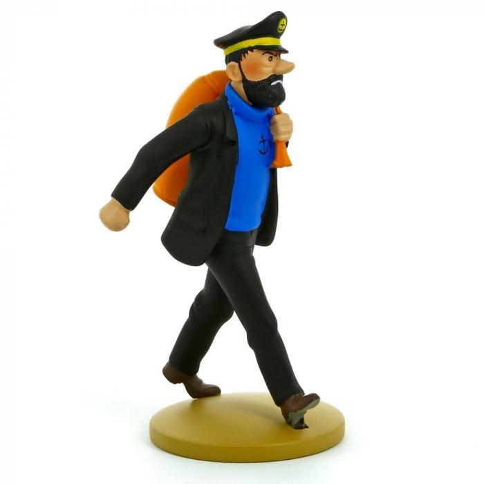 Figura de colección Tintín, Haddock con su saco 13cm + Librito Nº13 (2012)