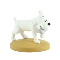 Figurine de collection Tintin Milou Messager 5cm Moulinsart + Livret Nº71 (2014)