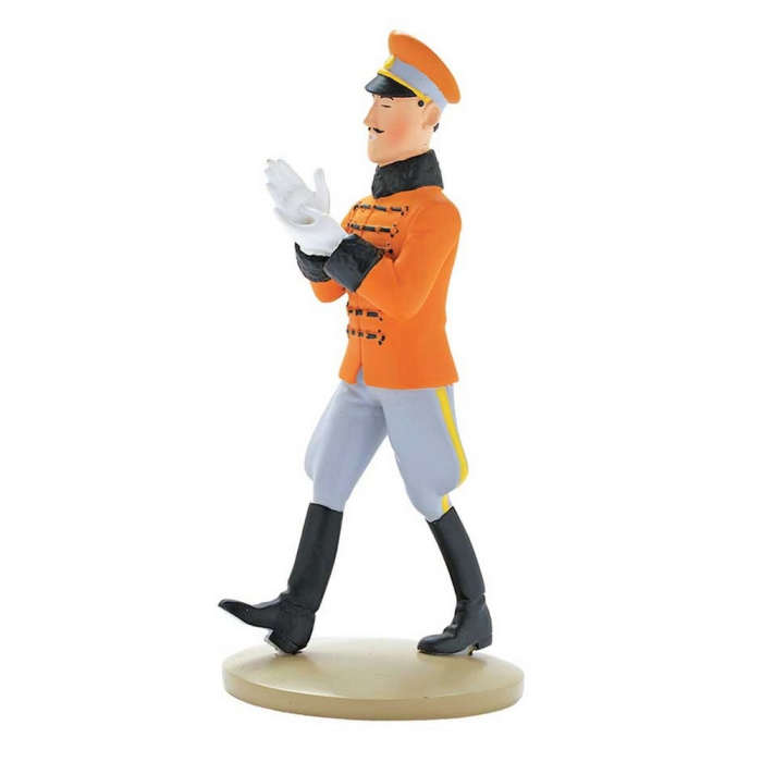 Collectible figurine Tintin, The King Muskar XII 14cm + Booklet Nº20 (2012)