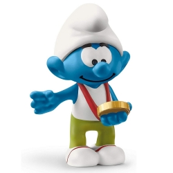 The Smurfs Schleich® Figure - Smurf with gold medal (20822)